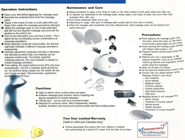 Urparamount Massage Mouse Tens Unit