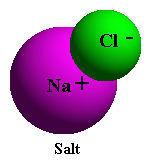 salt molecule ionized