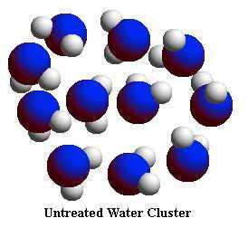 untreated water molecule