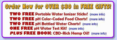 FREE water ionizer gifts!